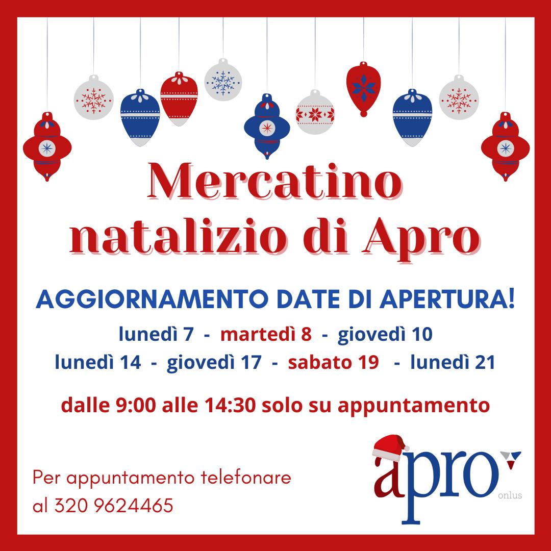Mercatino natalizio di APRO Onlus - CSV Emilia Sede di ...